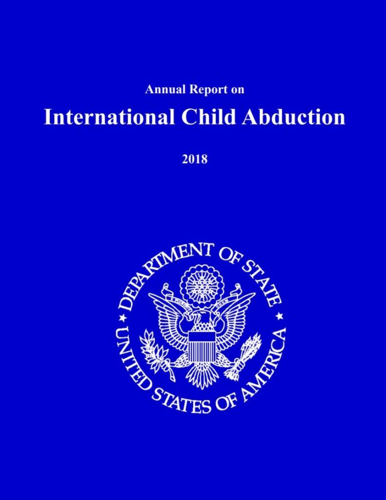 (写真2)「国境を越えた子供の連れ去り2018年年次報告書」表紙